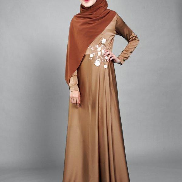 a7c589b593 Nakish Pleated Dress Bronze Brown – SinggahBeli